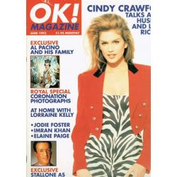 OK Magazine - 1993 06/93 Cindy Crawford
