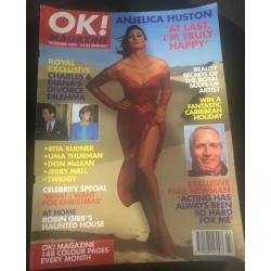 OK Magazine - 1993 12/93 Anjelica Huston