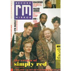Record Mirror Magazine 1989 21/01/89 (Simply Red Cover)
