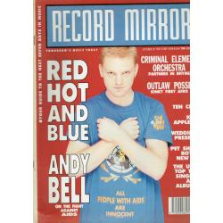 Record Mirror Magazine 1990 20/10/90 (Andy Bell Cover)