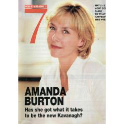 Seven Days Magazine - 2002 02/05/02 (Amanda Burton Cover)