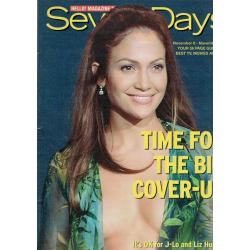 Seven Days Magazine - 2001 08/11/01 (Jennifer Lopez Cover)
