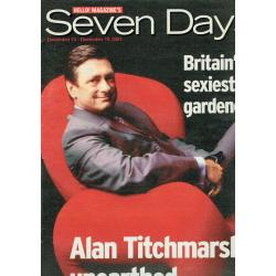 Seven Days Magazine - 2001 13/12/01 (Alan Titchmarsh Cover)