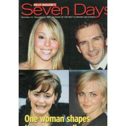 Seven Days Magazine - 2001 15/11/01 (Mariah Carey Cover)