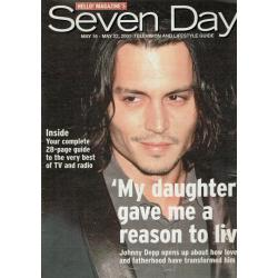 Seven Days Magazine - 2001 16/05/01 (Johnny Depp Cover)