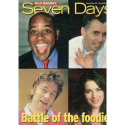 Seven Days Magazine - 2001 29/11/01 (Celebrity Chef Cover)