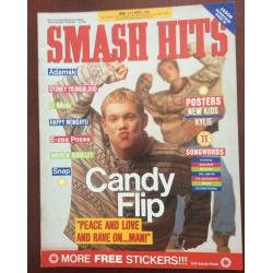 Smash Hits Magazine - 1990 04/04/90 (Candy Flip cover)