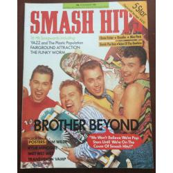 Smash Hits Magazine - 1988 10/08/88 (Brother Beyond Cover)