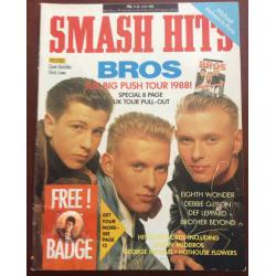 Smash Hits Magazine - 1988 13/07/88 (Bros Cover)