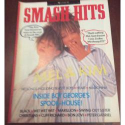 Smash Hits Magazine - 1987 15/07/87 (Mel & Kim Cover)