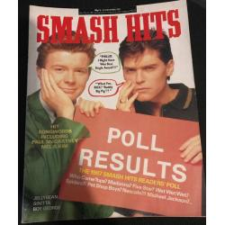 Smash Hits Magazine - 1987 16/12/87 (Smash Hits Poll Cover)