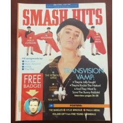 Smash Hits Magazine - 1989 19/04/89 (Transvision Vamp Cover)