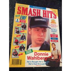 Smash Hits Magazine - 1991 20/02/91 (Donnie Wahlberg Cover)