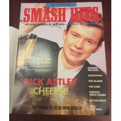 Smash Hits Magazine - 1987 21/10/87 (Rick Astley Cover)