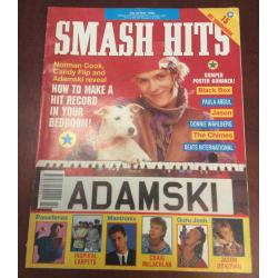 Smash Hits Magazine - 1990 30/05/90 (Adamski Cover)
