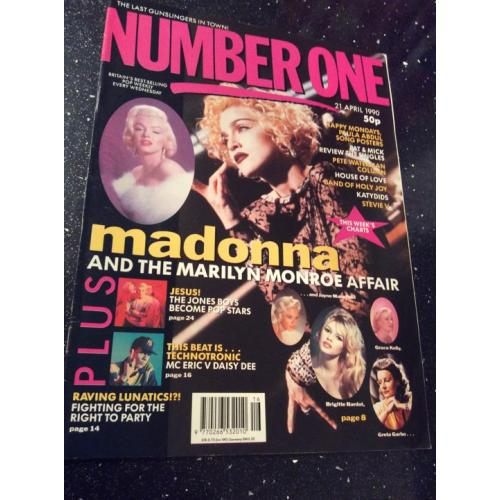 Number One Magazine - 1990 21/04/90 (Madonna Cover)