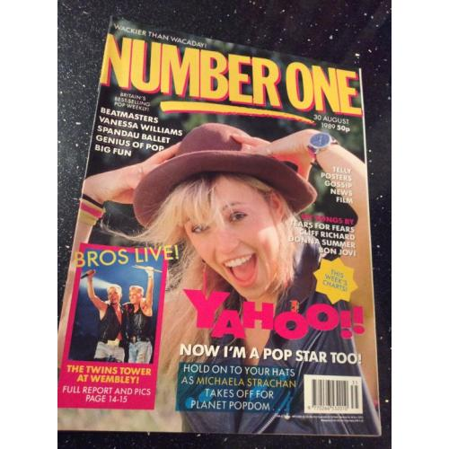 Number One Magazine - 1989 30/08/89 (Michaela Strachan Cover)