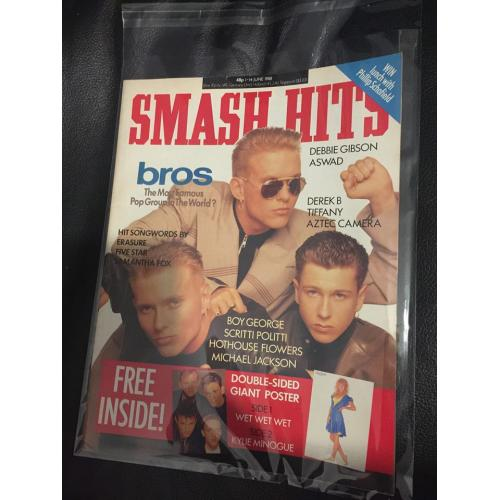 Smash Hits Magazine - 1988 01/06/88 (Bros Cover)