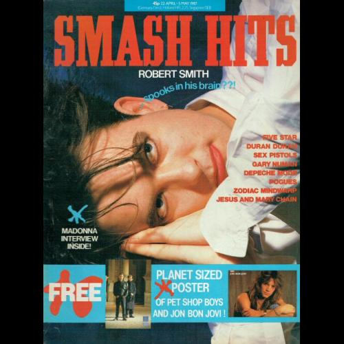 Smash Hits Magazine - 1987 22/04/87 (Robert Smith Cover)