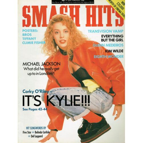 Smash Hits Magazine - 1988 27/07/88 (Kylie Minogue Cover)