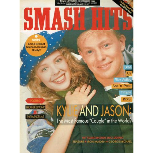 Smash Hits Magazine - 1988 30/11/88 (Kylie & Jason Cover)